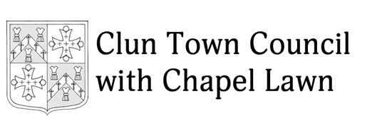 Clun Town Council with Chapel Lawn logo